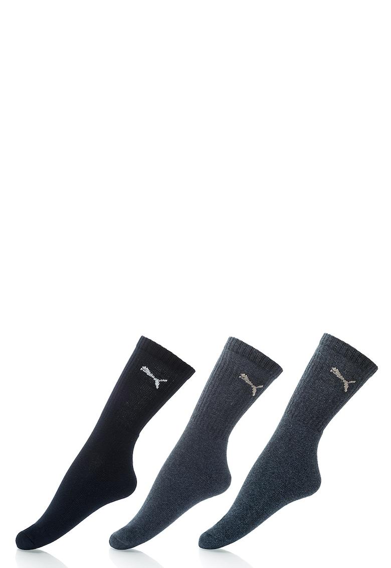 Puma Set de sosete inalte albastre – 3 perechi