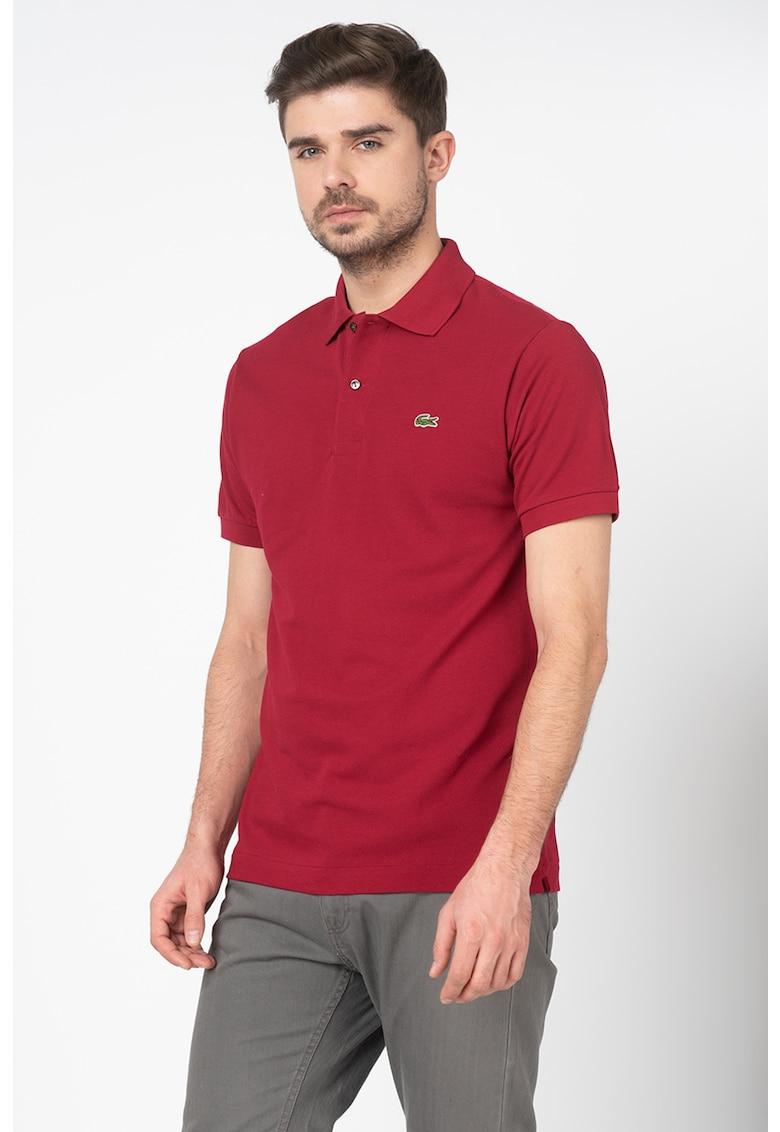 Tricou regular fit polo din material pique Bărbați imagine