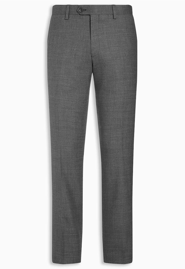 Pantaloni de lana texturati