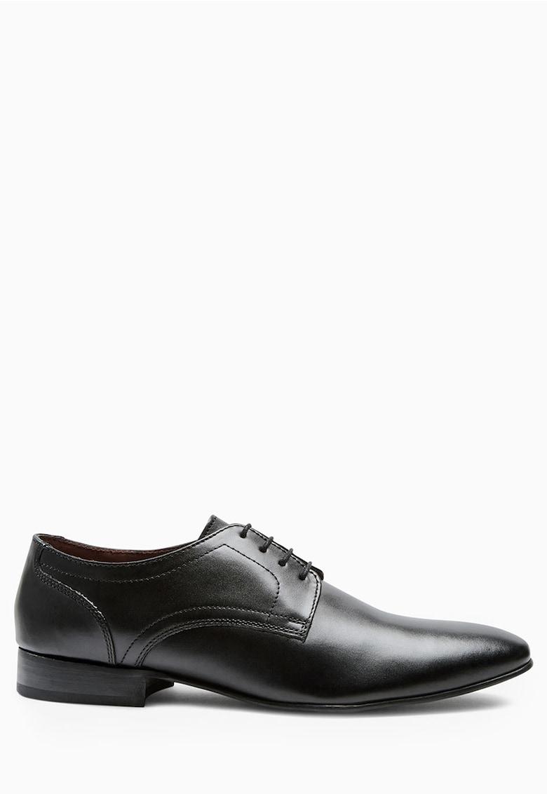 Pantofi derby negri de piele NEXT