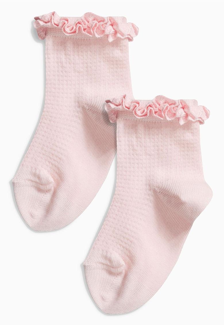 Set de sosete roz cu volane – 2 perechi NEXT