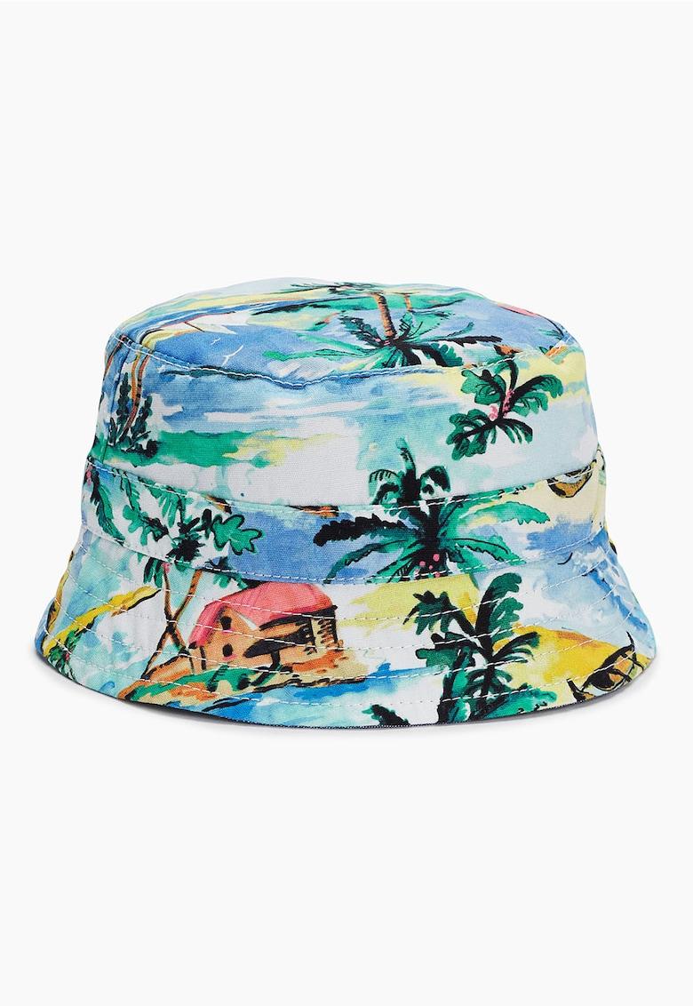 vânzare la preț mic listă nouă aspect detaliat Palarie bucket multicolora reversibila cu imprimeu tropical NEXT  (968883-BLUE) | Fashion Days
