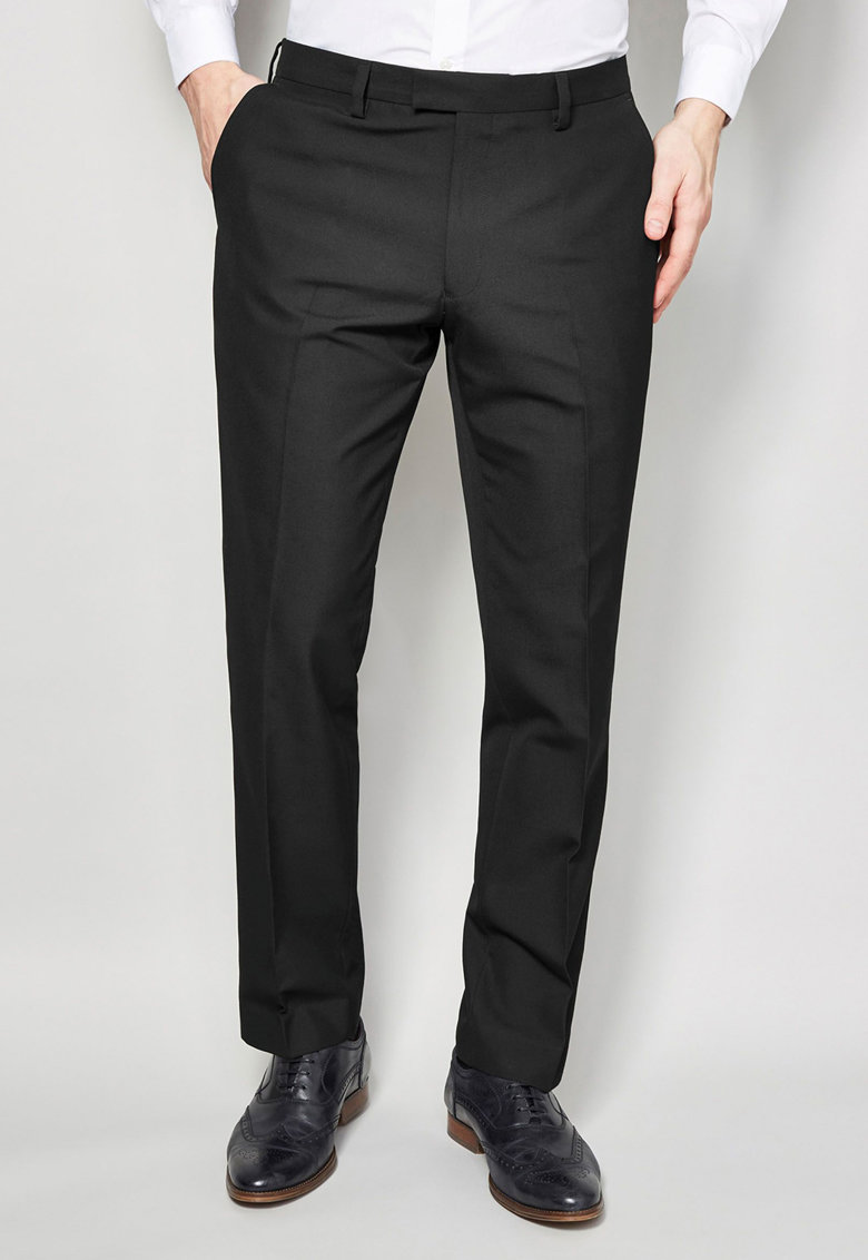 Pantaloni eleganti cu garnitura contrastanta