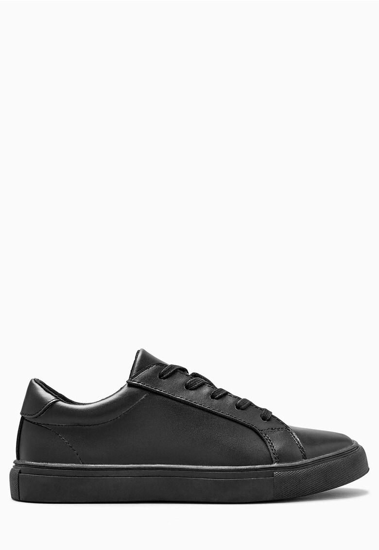 Pantofi sport negri de piele NEXT
