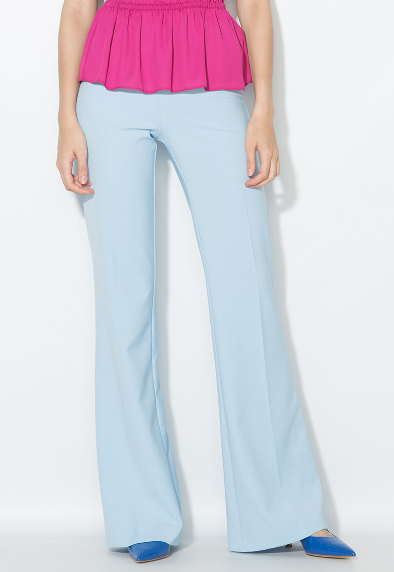 Pantaloni evazati bleu Zee Lane Collection