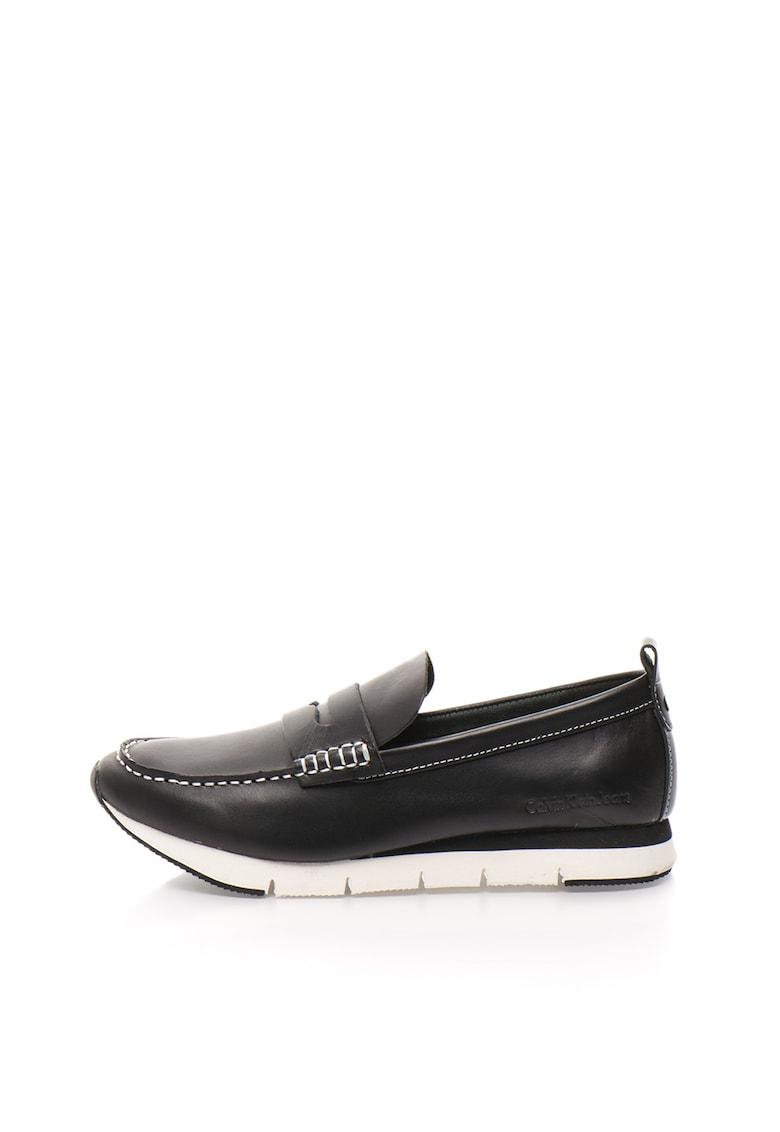 Pantofi loafer negri de piele Haben