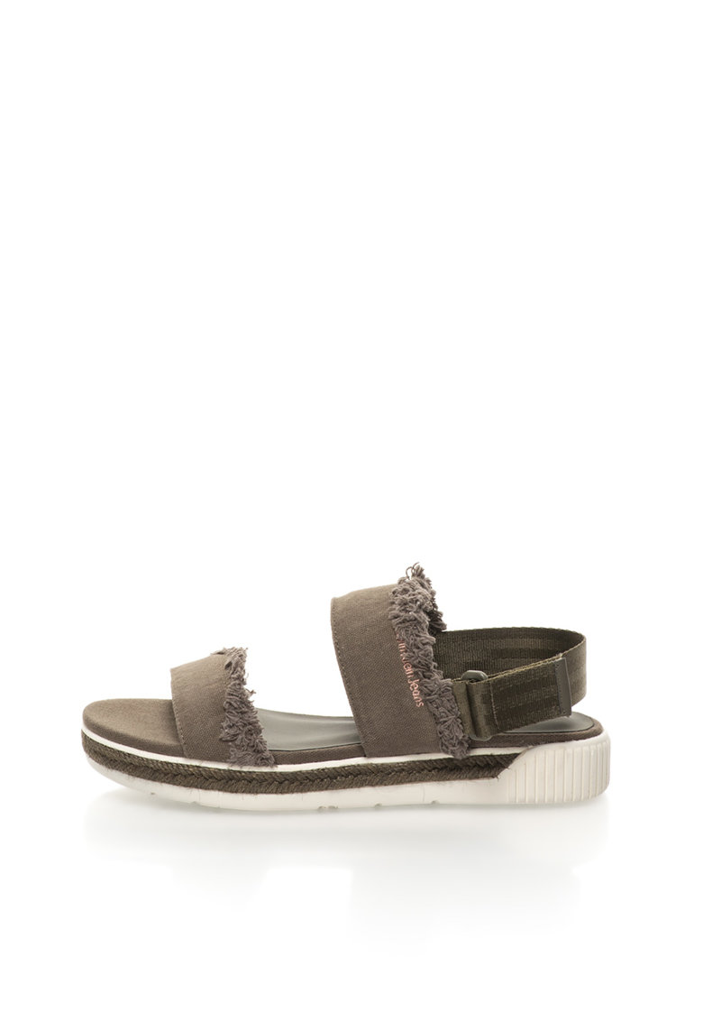 Sandale slingback verde militar Muriel thumbnail