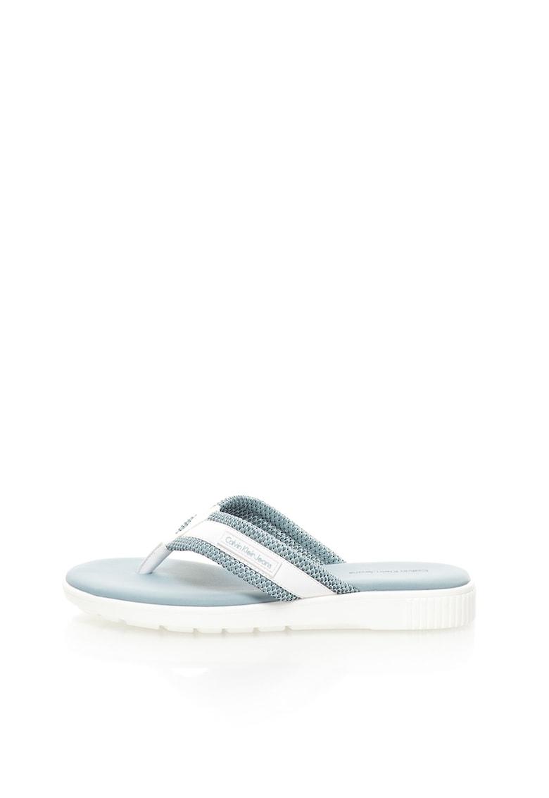 Papuci flip-flop albastru pal cu alb Mahal thumbnail
