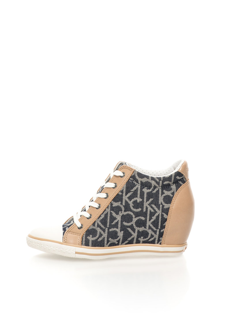 Pantofi sport inalti cu platforma wedge ascunsa Vero thumbnail