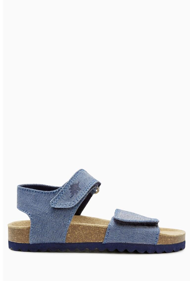 Sandale albastre de chambray