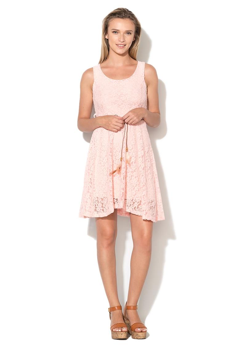 Haily's - Rochie din dantela cu un cordon in talie Macy imagine fashiondays.ro Haily's