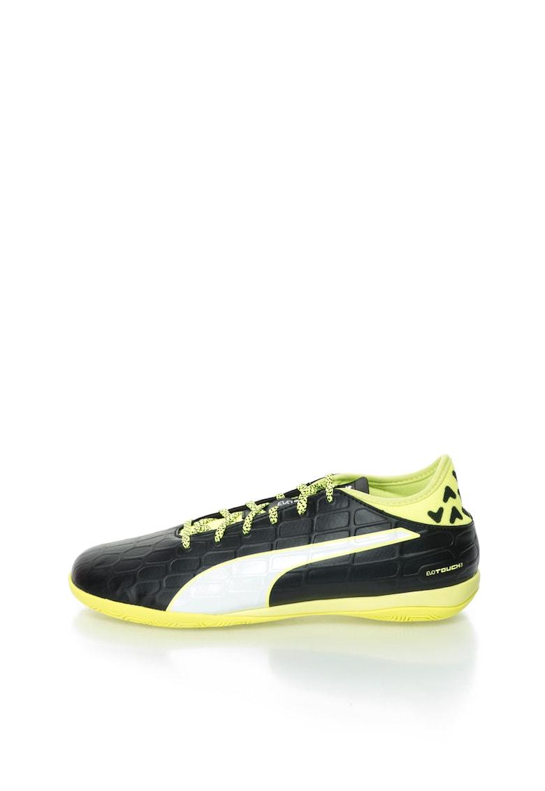 Pantofi sport negru cu verde neon Evotouch 3