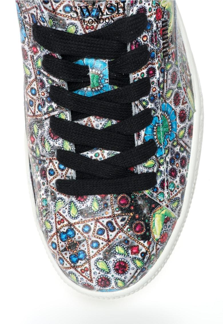 Pantofi sport multicolori de piele States x Swash Toucan