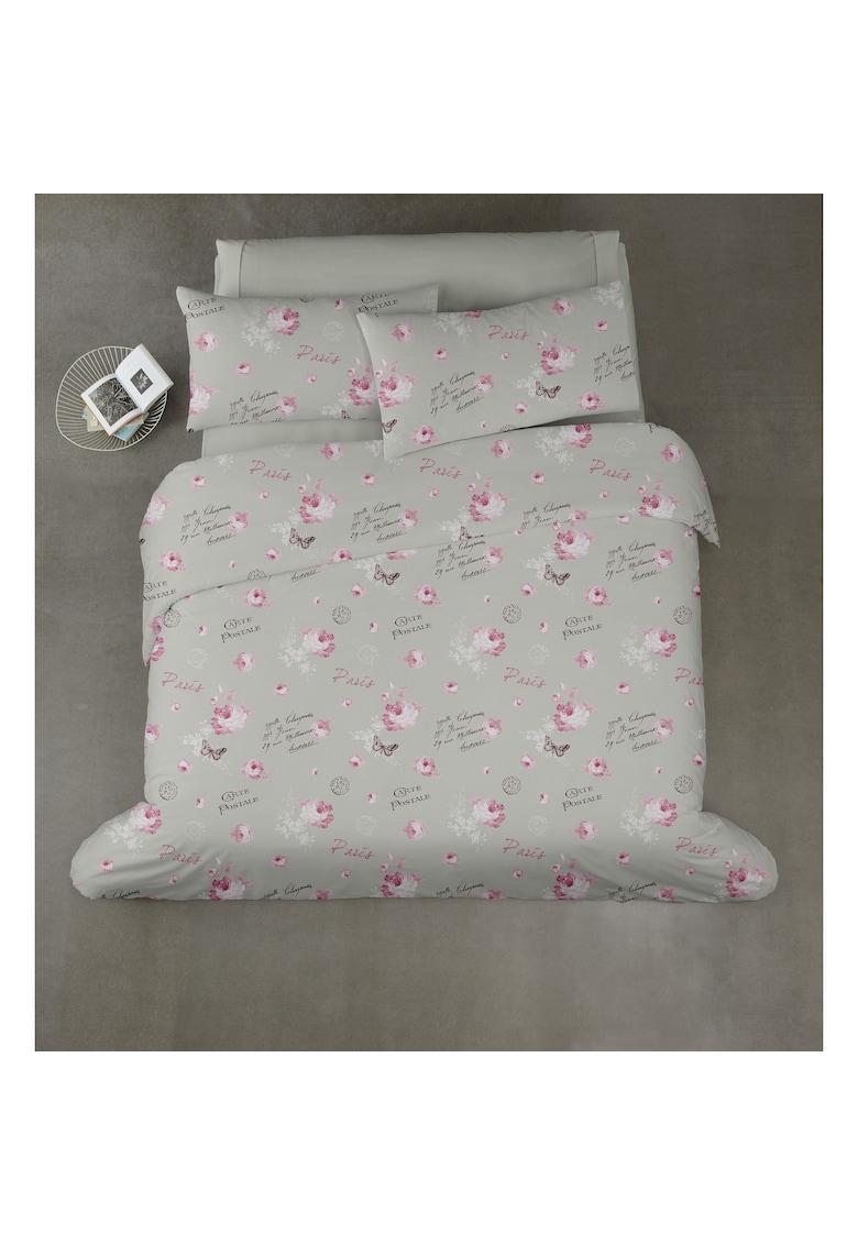 Lenjerie de pat pentru 2 persoane 4 piese - microfibra - Postal thumbnail