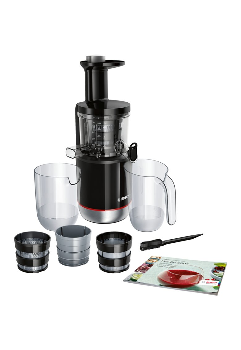 Storcator de fructe cu melc   -150W - 55 RPM - 3 filtre - smoothies si sorbet - Melc din Tritan - Reverse - DripStop - Negru