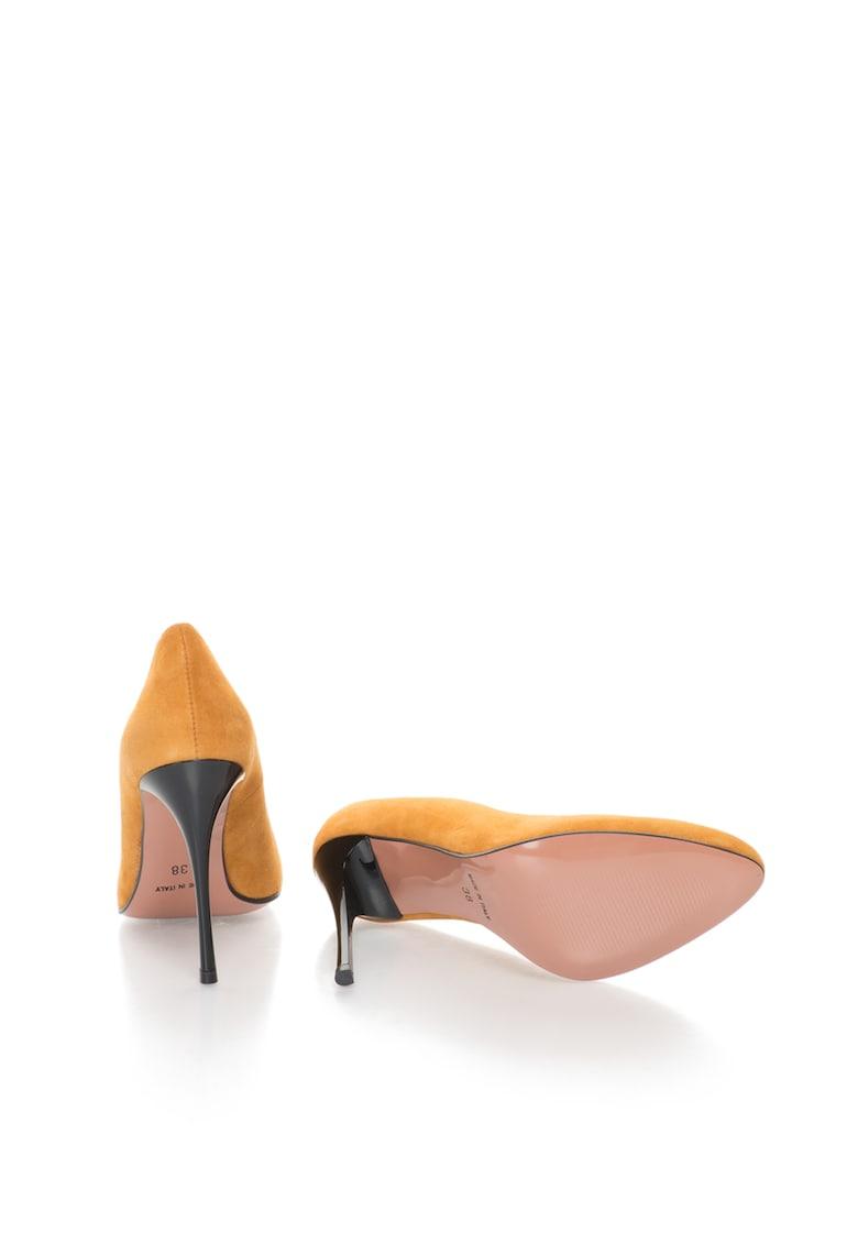 Pantofi stiletto de piele intoarsa Angie