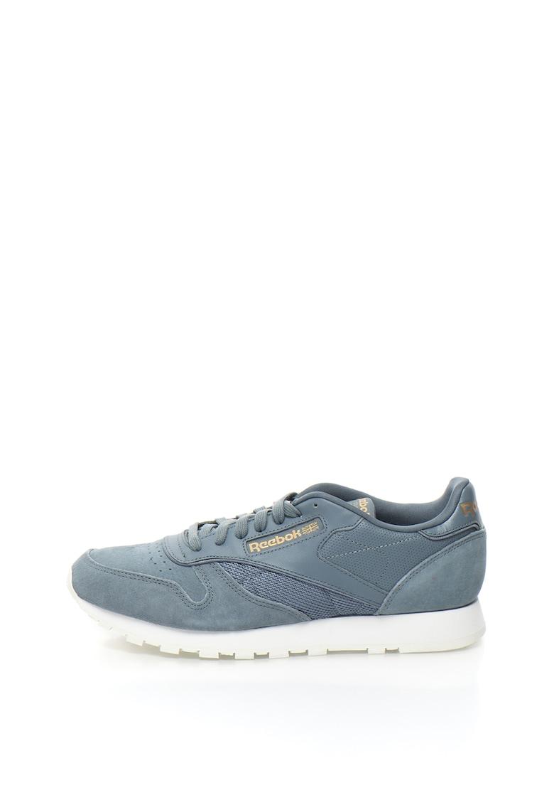 Reebok Classics Pantofi sport de piele si piele intoarsa cu garnituri de plasa