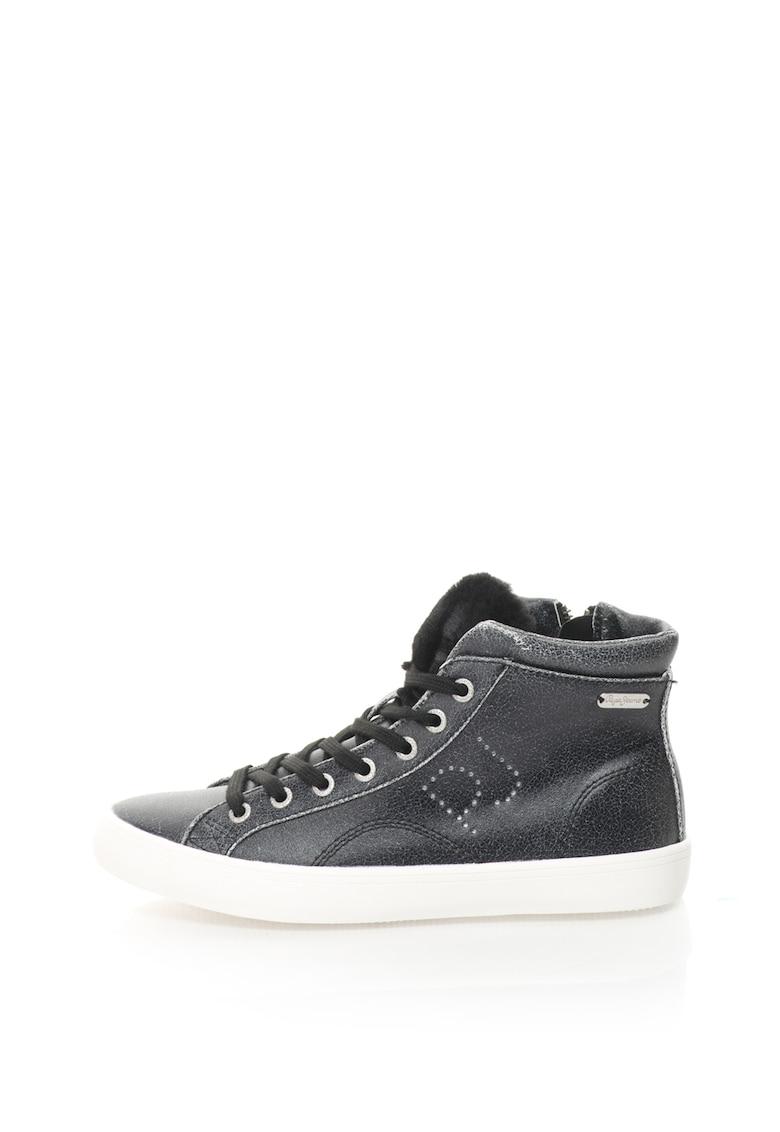 Pantofi sport inalti de piele sintetica Clinton Sally de la Pepe Jeans London