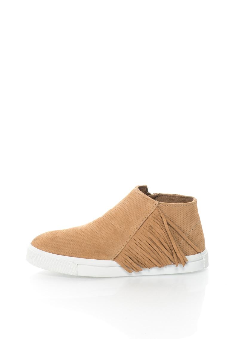 Pantofi sport tip gheata chukka de piele intoarsa cu perforatii Gwen