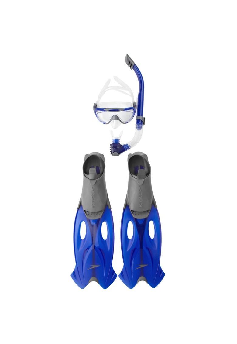 Set cu masca - tub scufundari si labe Unisex - Grey/Blue