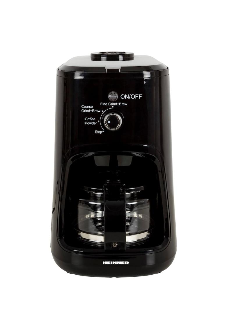 Cafetiera - 900 W - Rasnita incorporata - 0.6 L - Negru imagine