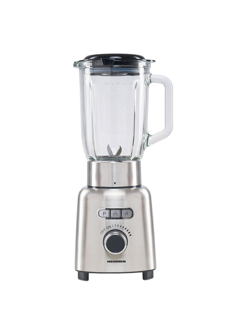 Heinner Blender   - 1000 W - 1.5 l - Viteza variabila - Pulse - Zdrobire gheata - Bol sticla - Inox