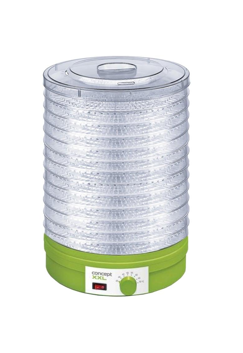Concept Deshidrator de alimente   - 245W - 12 tavi - diametru tava 32cm - ventilator - temperatura 35-70 70° - Verde