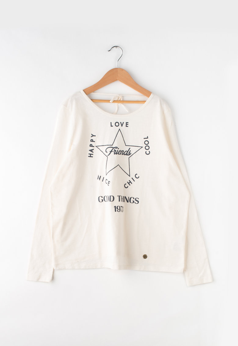 Bluza cu imprimeu text Cassia Teen de la Pepe Jeans London