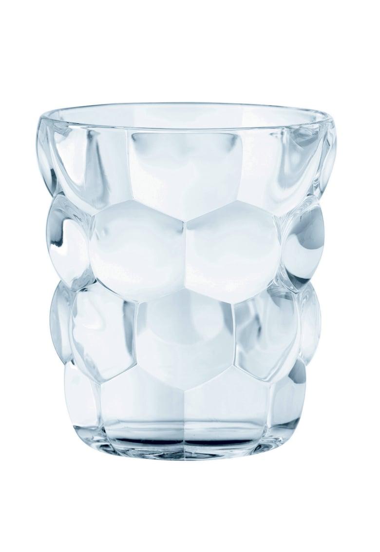 Set 4 pahare whisky model Bubbles - sticla cristalina - 330 ml imagine fashiondays.ro