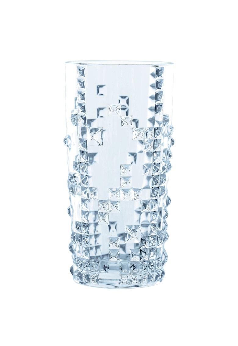 Set 4 pahare model Punk - sticla cristalina - 390 ml imagine fashiondays.ro