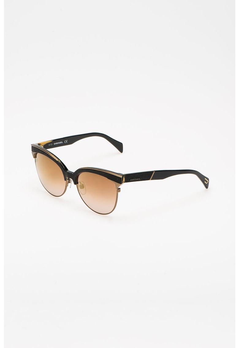 Ochelari de soare cat eye cu lentile oglinda imagine fashiondays.ro Diesel