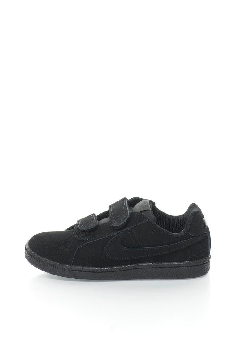 Pantofi sport de piele intoarsa cu velcro Court Royale Nike