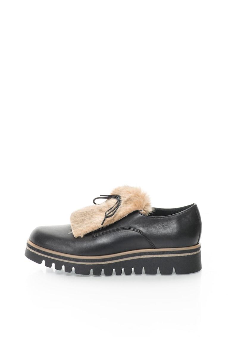 Pantofi derby de piele sintetica thumbnail