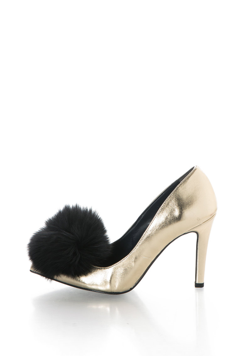 Zee Lane Pantofi cu varf ascutit si aplicatie de blana sintetica Anne