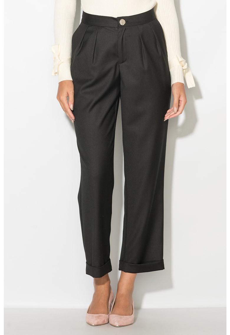 Zee Lane Pantaloni conici cu terminatii rasucite