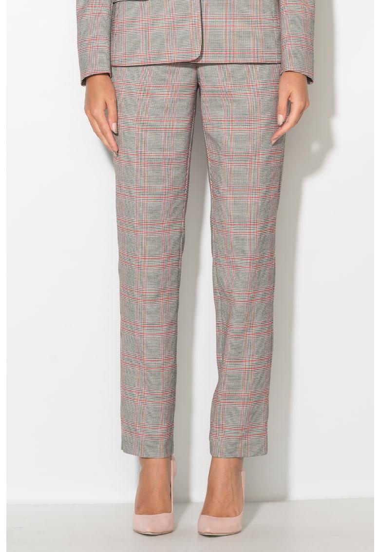 Zee Lane Pantaloni cu imprimeu tartan