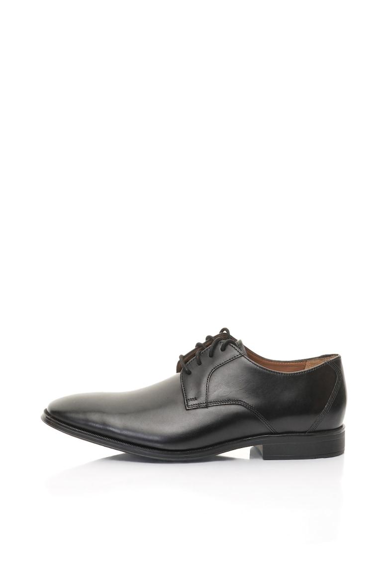 Clarks Pantofi derby de piele Gilman