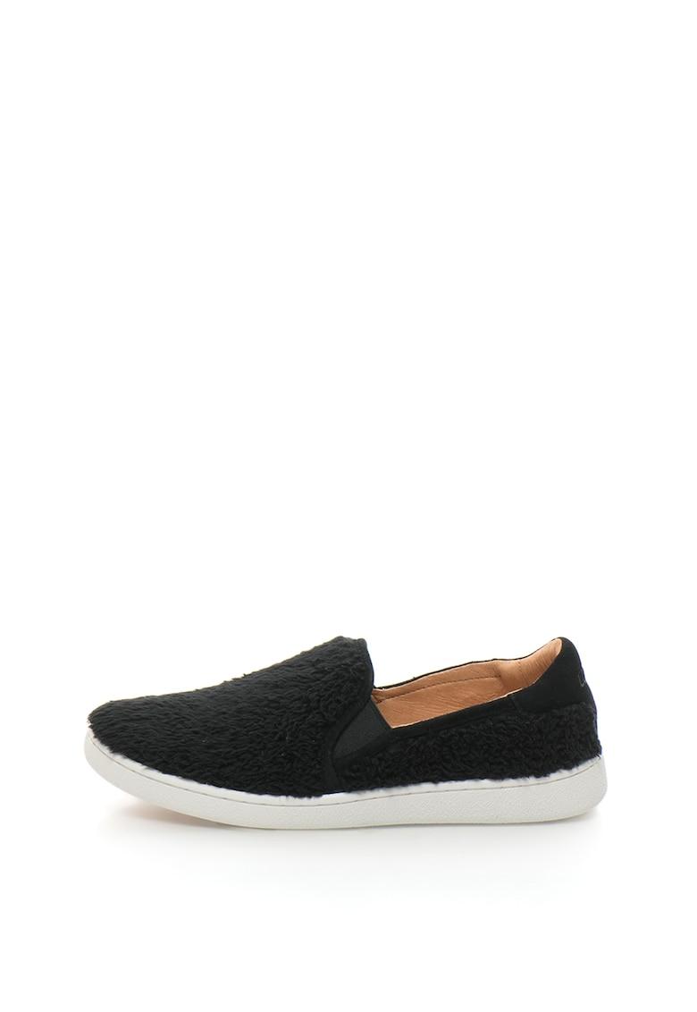 Pantofi slip-on cu insertii de piele intoarsa Ricci