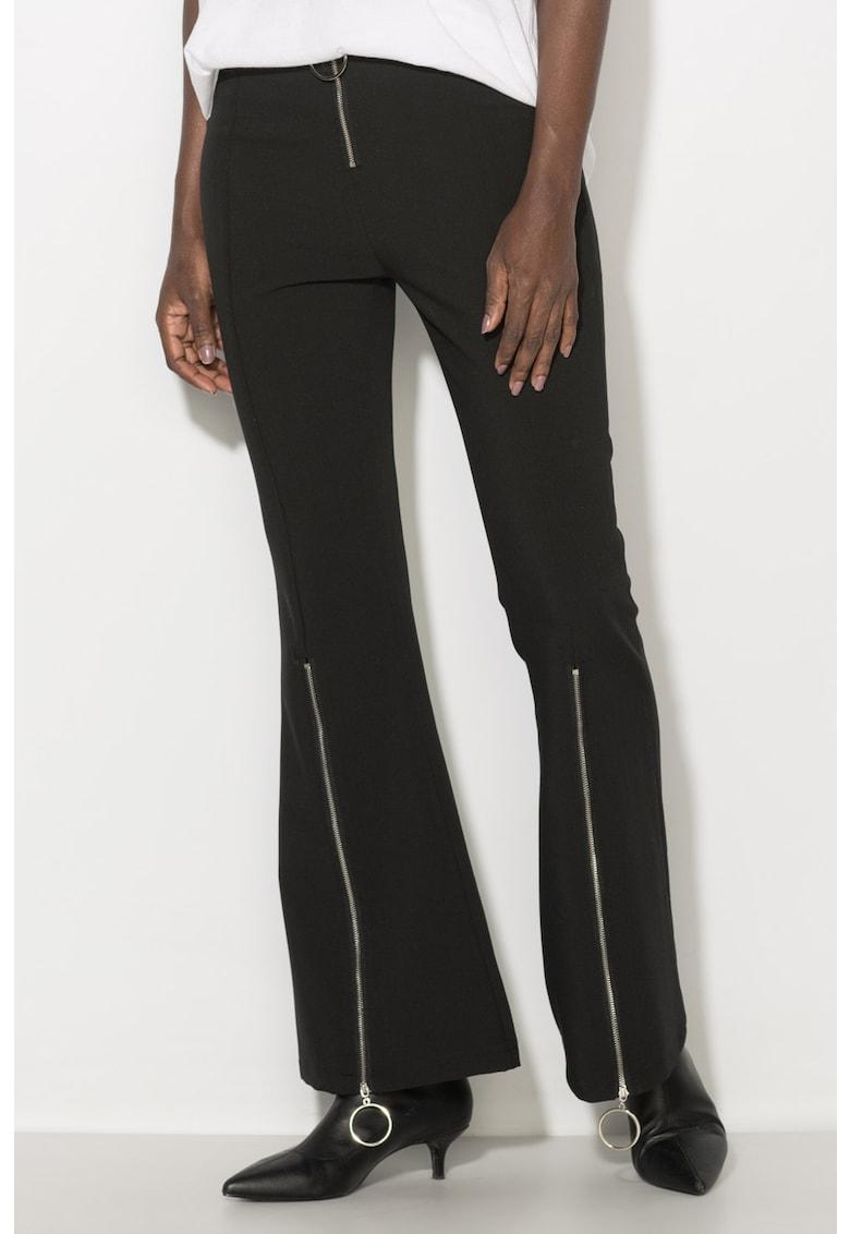 Pantaloni evazati cu slituri cu fermoar Zee Lane Denim