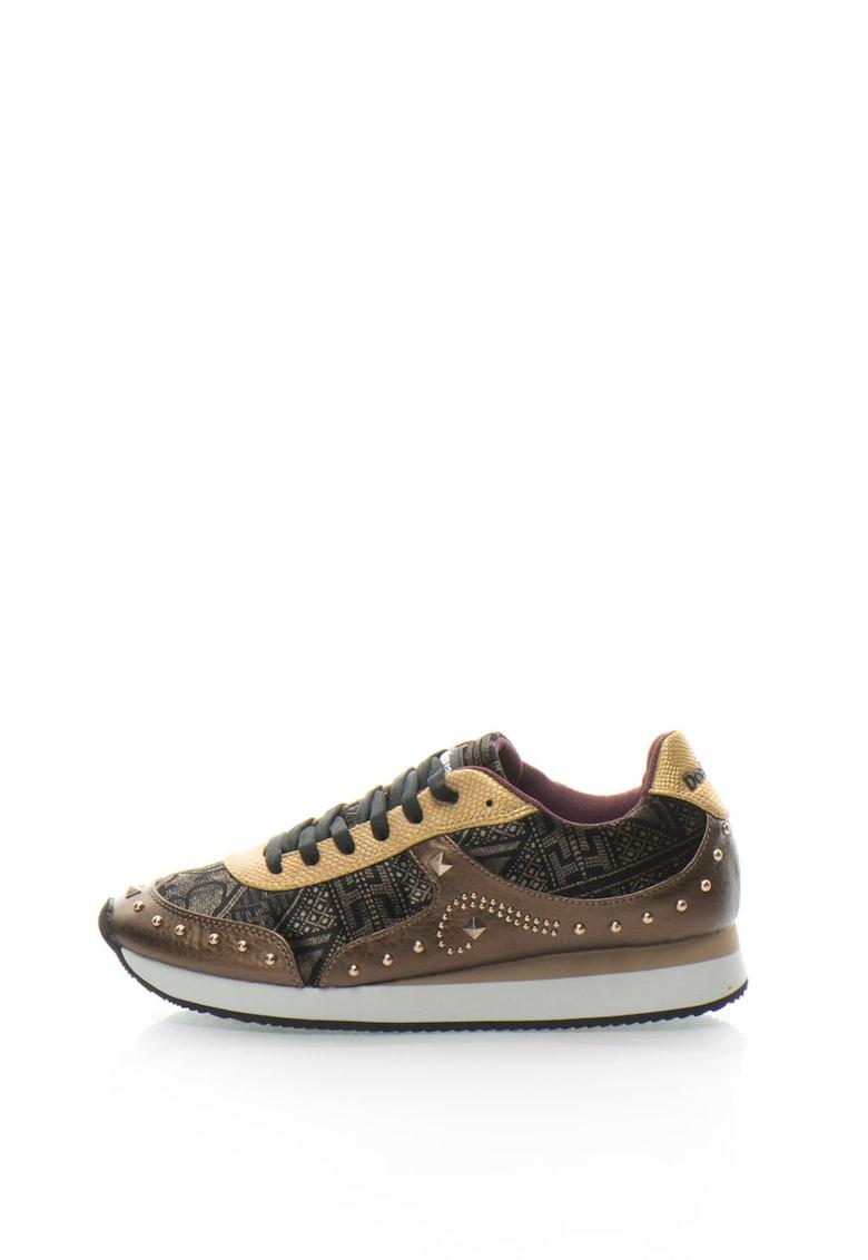Pantofi sport cu model grafic Galaxy