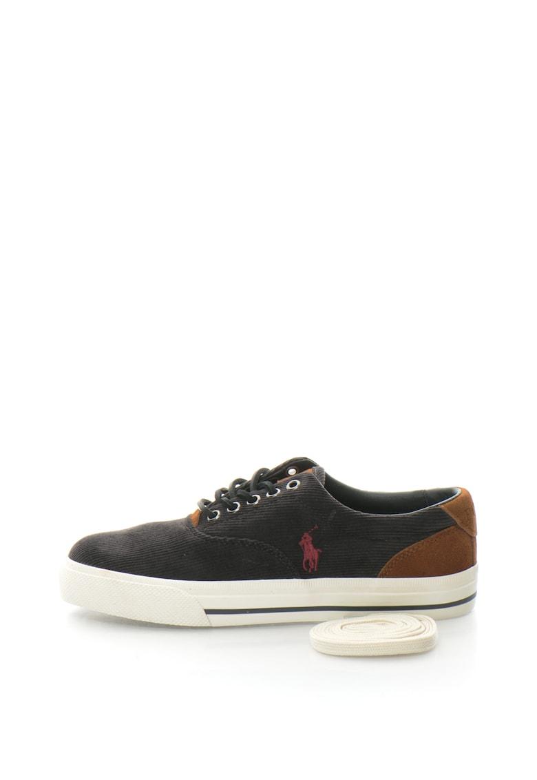 Polo Ralph Lauren Pantofi sport din reiat cu garnituri de piele intoarse