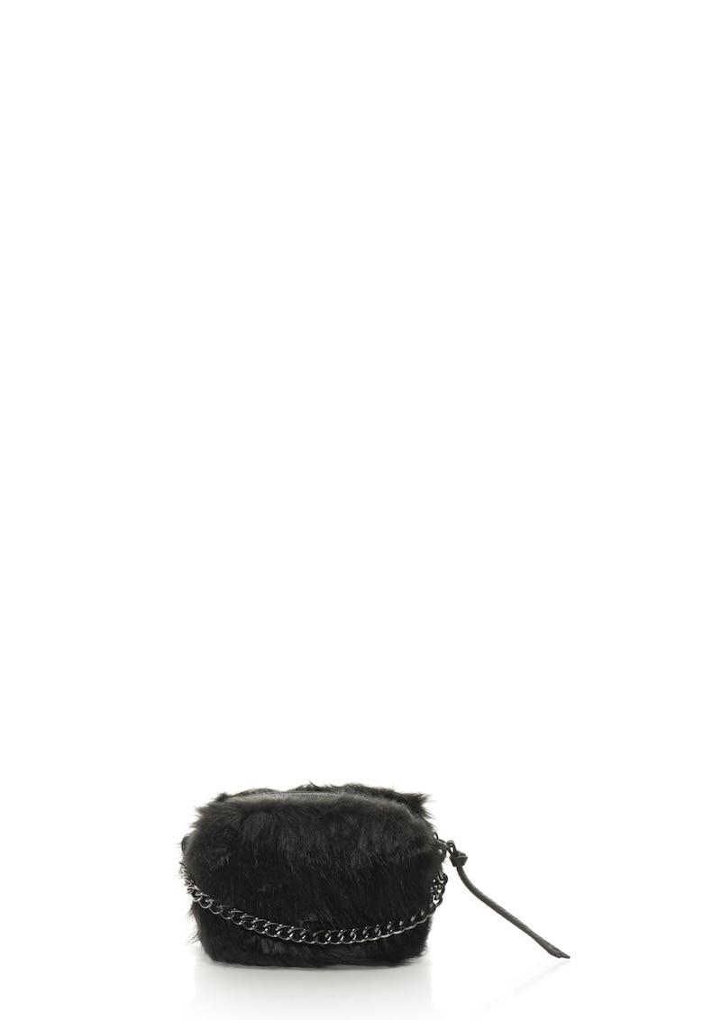Geanta crossboy de blana sintetica Beat de la Fornarina