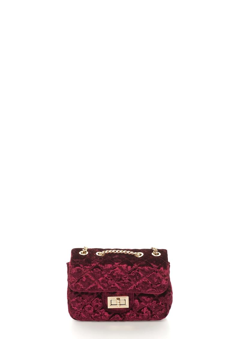 Fornarina Geanta de umar – din catifea – cu design matlasat Dahlia