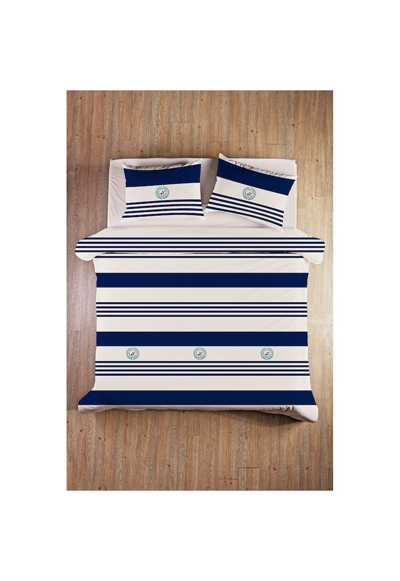 Beverly Hills Polo Club Lenjerie de pat pentru 2 persoane  bumbac ranforce - model 003 - Albastru inchis