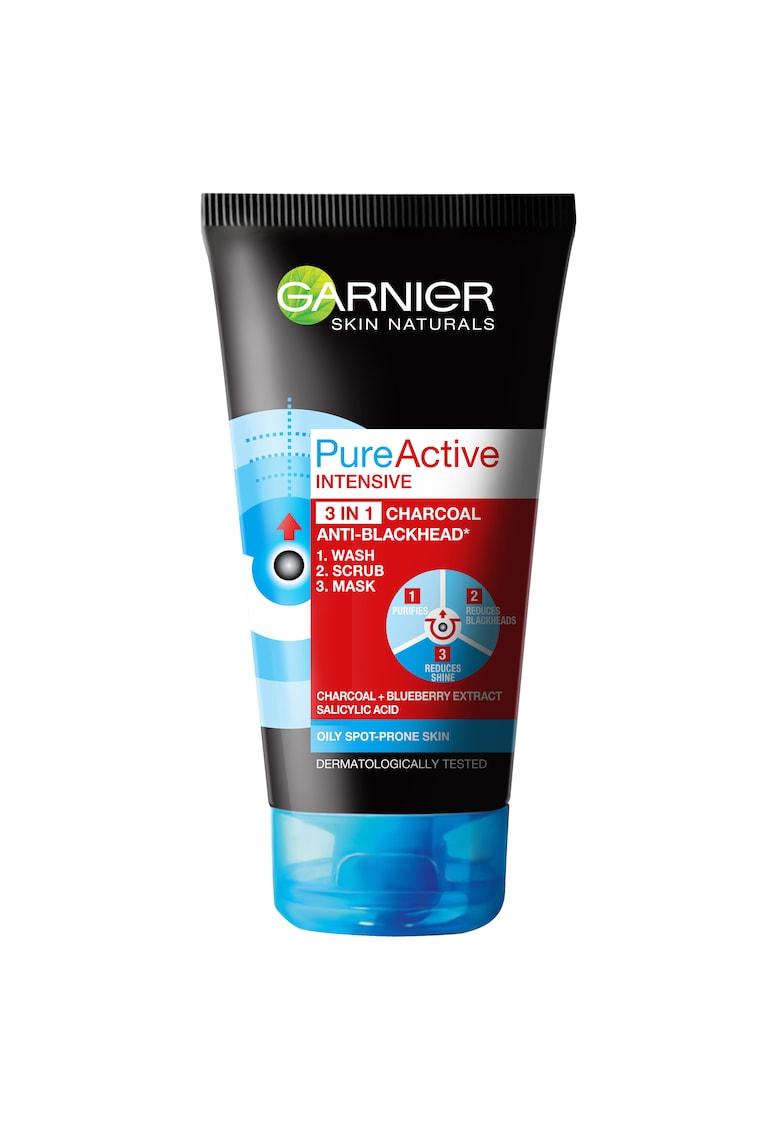 Gel de curatare pentru fata 3 în 1  Pure Active Intensive Charcoal pentru ten gras cu imperfectiuni - 150 ml