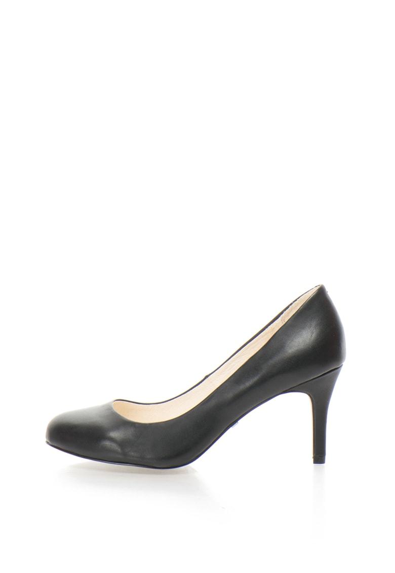 Pantofi de piele cu varf rotunjit thumbnail