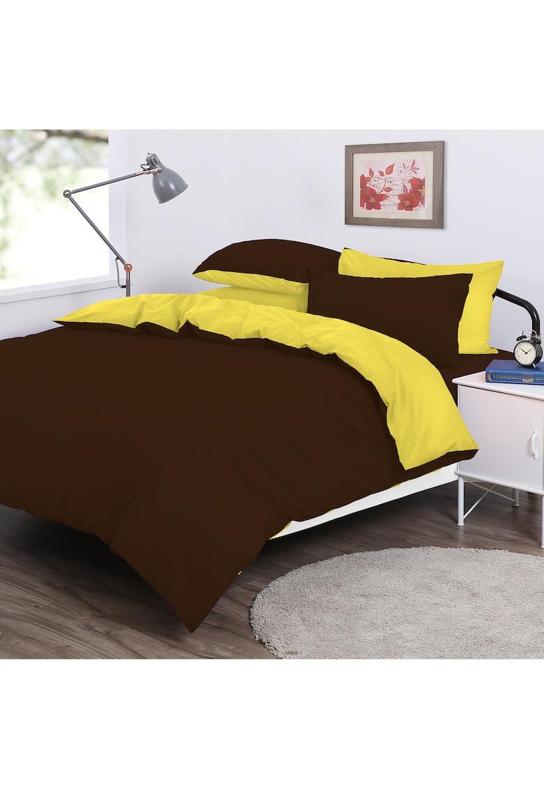 Lenjerie de pat cu doua fete  pentru 2 persoane – bumbac 100% Kring