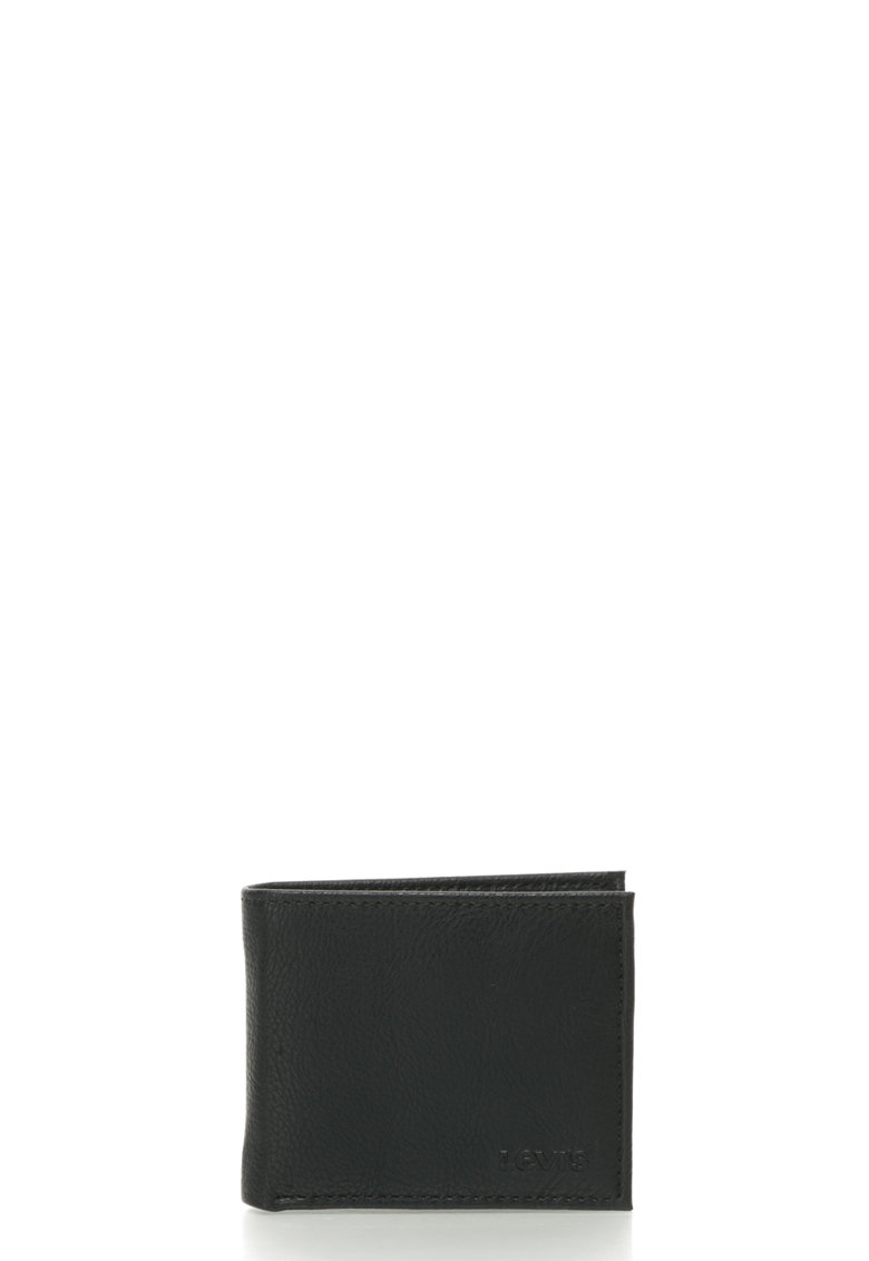 Portofel pliabil de piele sintetica cu logo in relief thumbnail