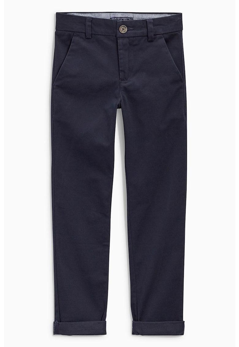 Pantaloni chino skinny fit cu buzunare oblice frontale