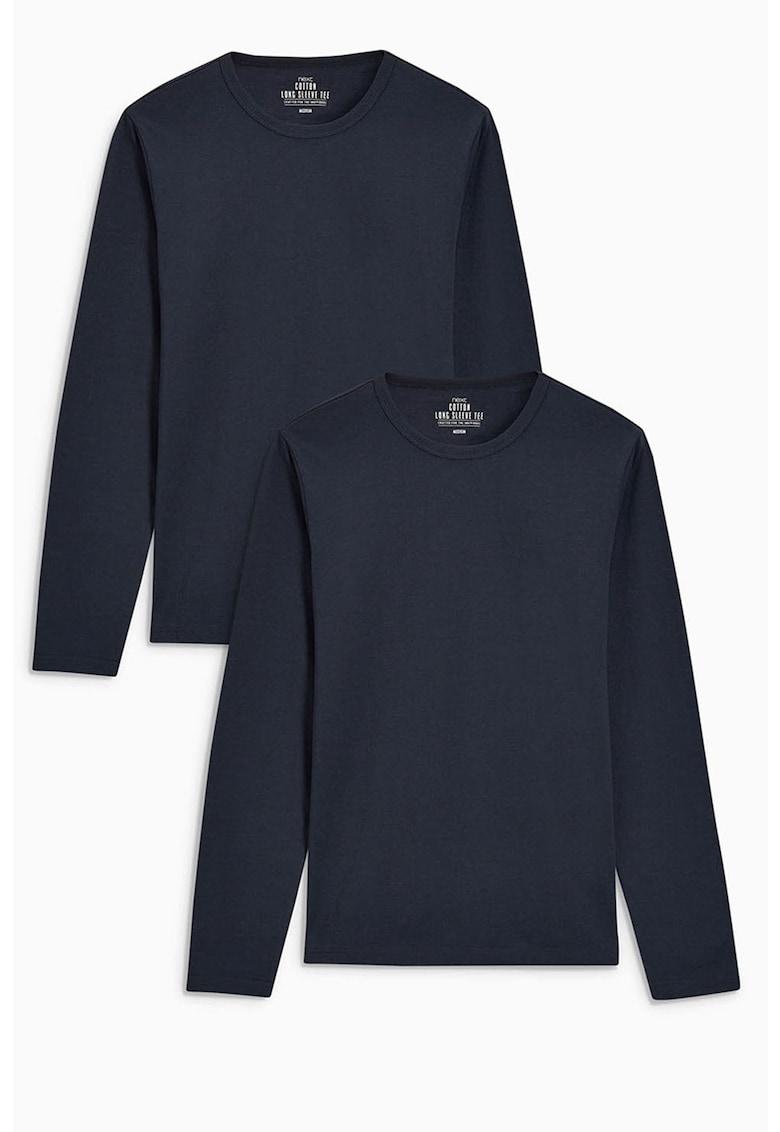 Set de bluze din bumbac cu maneci lungi – 2 piese de la NEXT